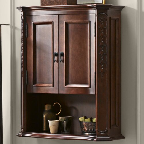 Ronbow Bordeaux Bathroom Wall Cabinet In Colonial Cherry Reviews Wayfair