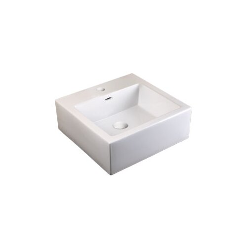 Ceramic Bathroom Sink with Integrated