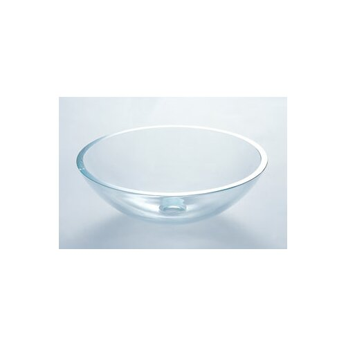 Vessel Bathroom Sink with Tempered Glass