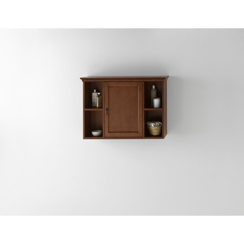 ronbow traditional bathroom wall cabinet in colonial cherry reviews