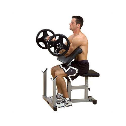 Powerline Preacher Curl Adjustable Hyperextension Bench