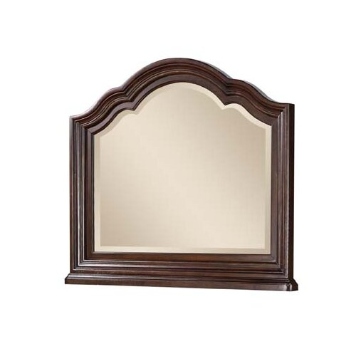 Wynwood Furniture Heritage Manor Landscape Mirror in Meritage Cherry