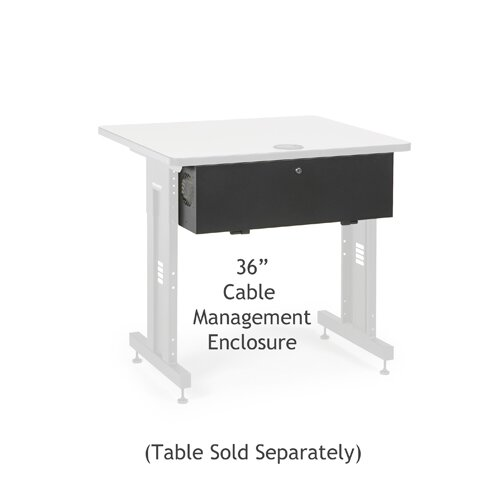 Kendall Howard Advanced Classroom Training Table Cable Management Enclosure