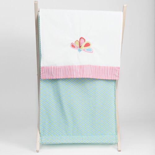 Aqua Peacock Laundry Hamper