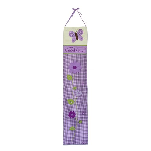 Pam Grace Creations Lavender Butterfly Growth Chart
