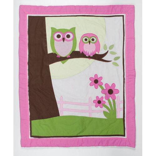 Pam Grace Creations Sweet Dream Owl 10 Piece Crib Bedding Set