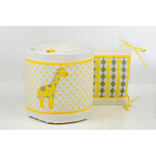 Pam Grace Creations Argyle Giraffe Crib Bumper