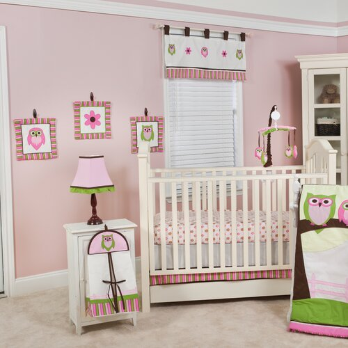 Sweet Dream Owl 10 Piece Crib Bedding Set