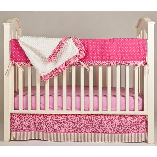 Simply Cheetah 4 Piece Crib Bedding Set