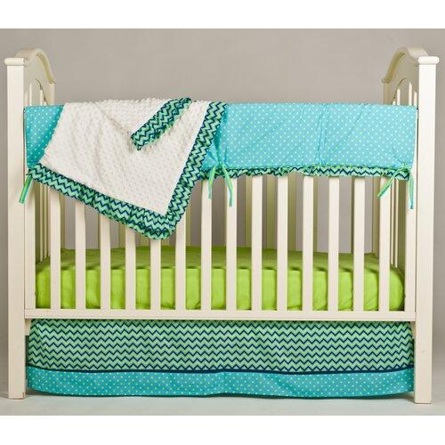 Pam Grace Creations Simply ZigZag 4 Piece Crib Bedding Set