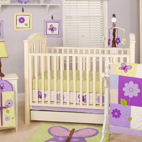 Pam Grace Creations Lavender Butterfly 10 Piece Crib Bedding Set