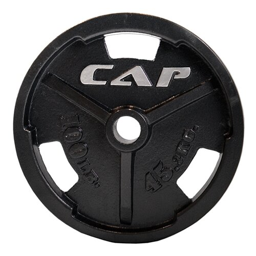 """Cap Barbell 2"""" Black Commercial Grip Plate"""