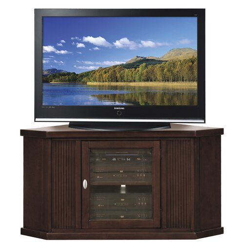 "Leick Furniture 46"" Corner Plasma TV Stand in Mission Oak"
