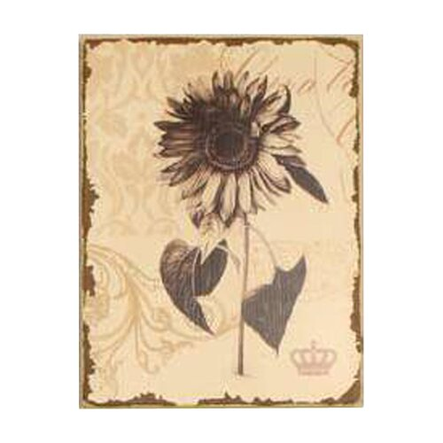 Antiqued Floral Painting Print on Canvas