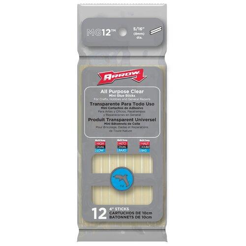 """Arrow Fastener 12 Count 4"""" All Purpose Mini Glue Stick"""