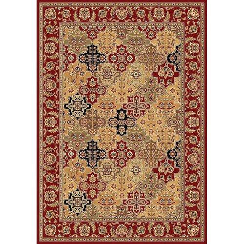 KAS Oriental Rugs Cambridge Red Kashan Panel Rug
