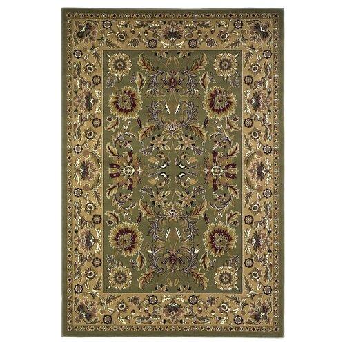 KAS Oriental Rugs Cambridge Green/Taupe Kashan Rug
