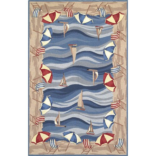 KAS Oriental Rugs Colonial On The Beach Novelty Rug