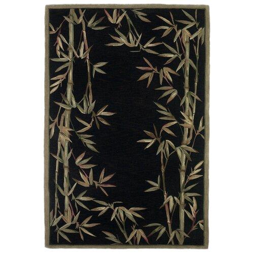 Sparta Black Bamboo Border Rug