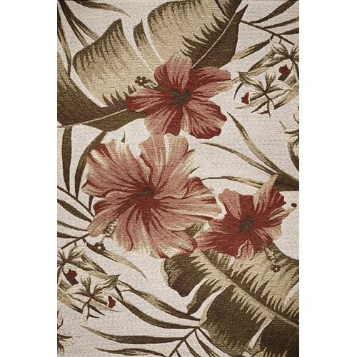 Horizon Ivory Hibiscus Indoor/Outdoor Rug