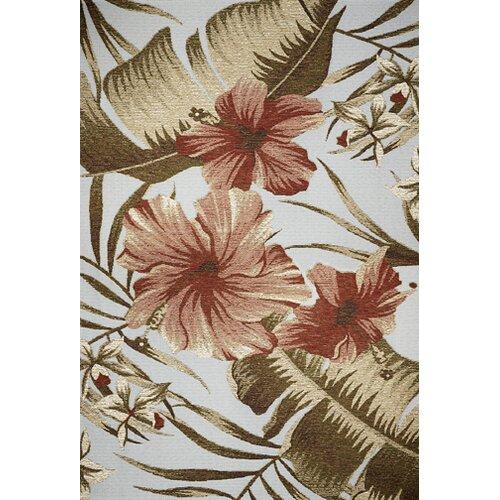 Horizon Light Blue Hibiscus Indoor/Outdoor Rug