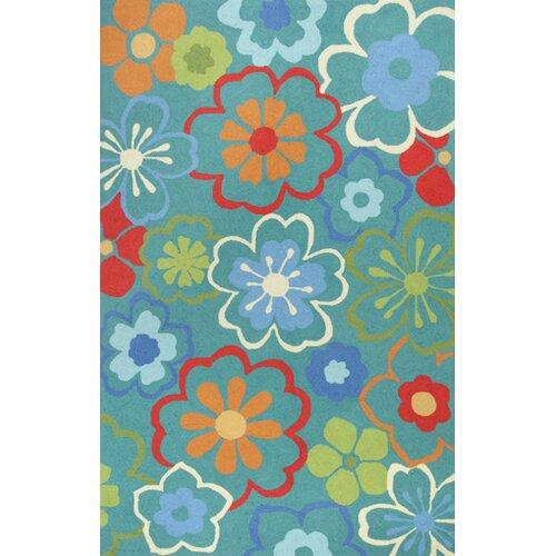 Sonesta Blue Floral Splash Rug