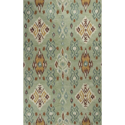 Anise Seafoam Allover Ikat Rug