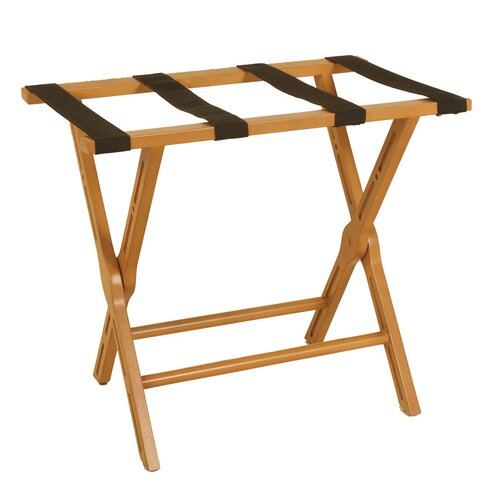 Passport Furniture Luggage Rack with Cut-out Design in Medium Cherry