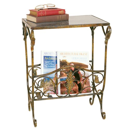 Passport Furniture Magazine Table with Rack