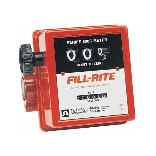 """Fill-Rite Mechanical Flow Meters - 3/4""""in-line flow meter"""