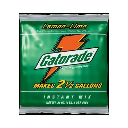 Gatorade Ounce Instant Powder Package Lemon-Lime - Yields 2.5 Liquid Gallons