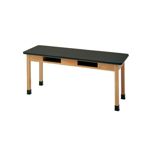Diversified Woodcrafts Plain Apron Science Table With 2 Book Compartments