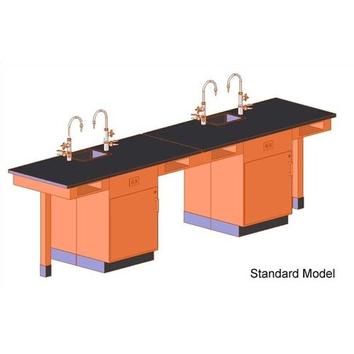 Diversified Woodcrafts Single Faced 4 Student Island Workstation