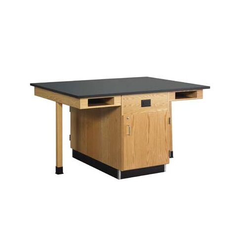 Diversified Woodcrafts 4 Student Double Faced Workstation With Cupboard