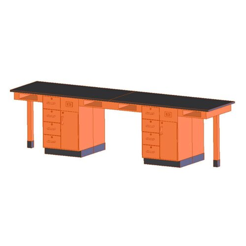 Diversified Woodcrafts Four Station Service Center Workstation