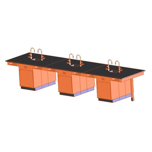 Diversified Woodcrafts Twelve Station Service Center with Sink