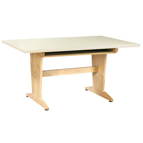 "Diversified Woodcrafts 60"" x 42"" Rectangular Classroom Table"