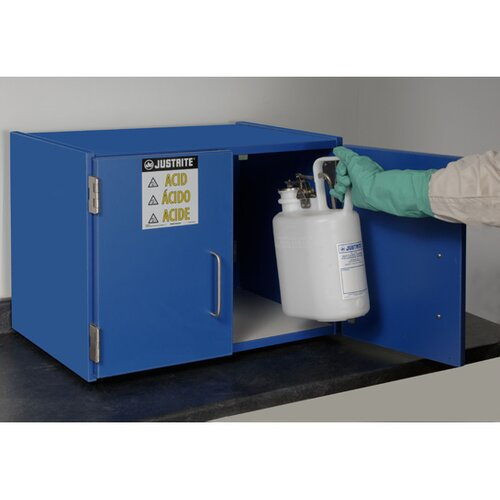 Justrite Nonmetallic Storage Cabinet for Corrosives without Shelf