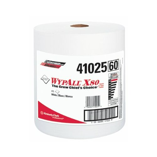 Kimberly-Clark WypAll® X80 Shop Wipers - 475 Wipes per Roll