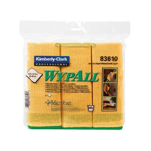 Kimberly-Clark WypAll® Microfiber Cloths - c- wyall microfiber clotgold 6wiper/bg