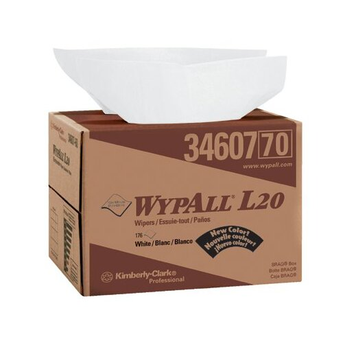 "Kimberly-Clark WypAll® L20 Wipers - wipers  12.5""x16.8""176wiper box"
