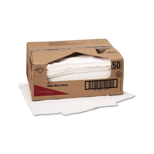 Kimberly-Clark Professional* Wypall X70 Wipers, Flat Sheet, 300/Carton