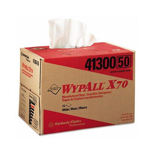 Kimberly-Clark Professional* Wypall X70 Wipers, Brag Box, 152/Carton