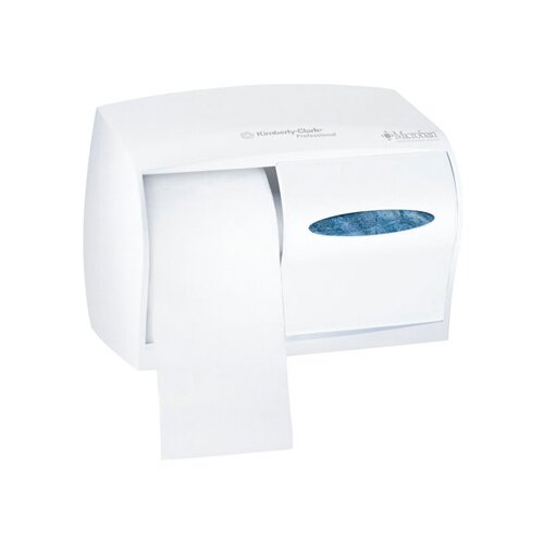 Kimberly-Clark In-Sight Double Roll Coreless Tissues Dispenser in Pearl White