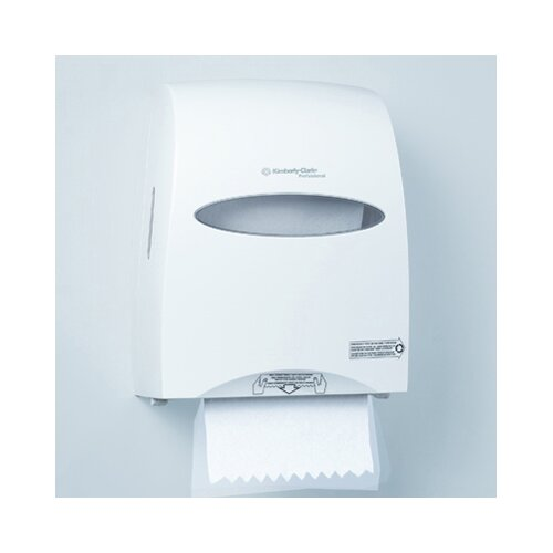 Kimberly-Clark In-Sight Sanitouch Hard Roll Towel Dispenser in Pearl White