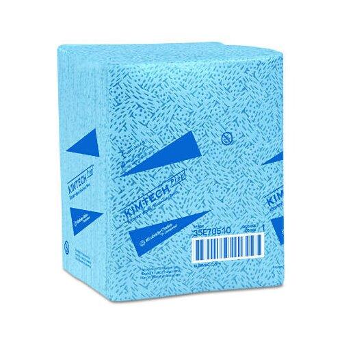 Kimberly-Clark Kimtech Prep Kimtex Wipers quarter fold in Blue