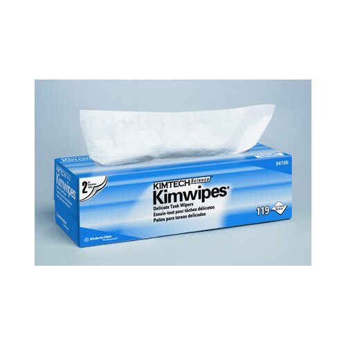 Kimberly-Clark Kimtech Science Kimwipes Delicate Task Wipers, 119/Box