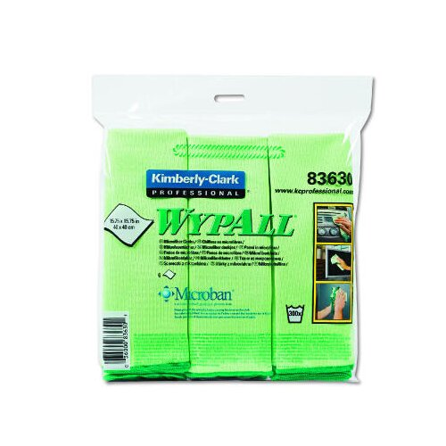 Kimberly-Clark Wypall Cloths with Microban Microfiber in Green
