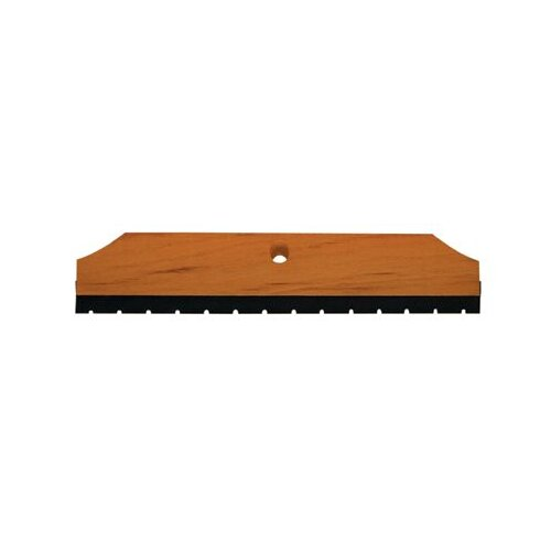 "Magnolia Brush Wood-Back Notched Squeegees - 18"" wood block/notched squeegee req.5t-hdl"