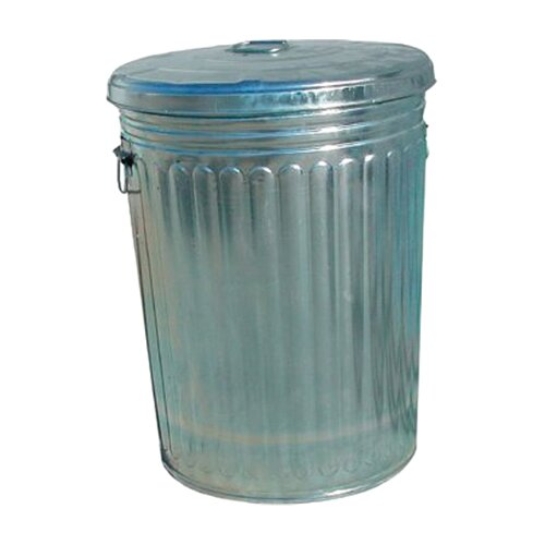 Magnolia Brush Pre-Galvanized Trash Cans - 20 gallon galvanized trash can with lid